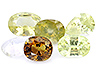 Chrysoberyl Closeout Mixed shapes Slightly to Moderately included