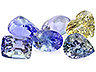 Tanzanite Closeout Mixed shapes Slightly to Heavily included