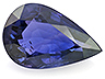 Sapphire Single Pear Slightly included