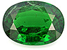 Tsavorite Single Oval Moderately to Heavily included