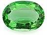 Chrome Tourmaline Single Oval Eye clean to Slightly included