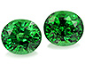 Tsavorite Pair Oval Moderately included