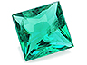 Emerald Single Square Moderately to Heavily included