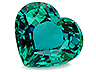 Emerald Single Heart Eye clean
