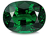 Tsavorite Single Oval Eye clean to Slightly included
