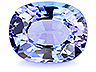 Tanzanite Single Oval Slightly included