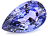 Tanzanite Single Pear Slightly included