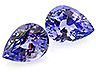 Tanzanite Pair Pear Eye clean to Slightly included