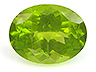 Peridot  Oval Moderately included