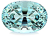 Aquamarine Single Oval Eye clean