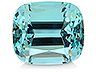 Aquamarine Single Cushion Eye clean