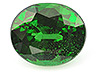 Tsavorite Single Oval Moderately included