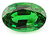 Tsavorite Single Oval Slightly to Moderately included