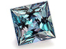 Alexandrite Single Square Slightly included