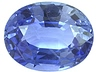 Sapphire  Oval Slightly included