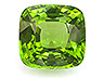 Peridot Single Cushion Eye clean to Slightly included