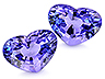 Tanzanite Pair Heart Eye clean