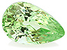 Tsavorite Single Pear Slightly to Moderately included