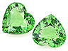 Tsavorite Pair Heart Slightly to Moderately included