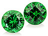 Tsavorite Pair Round Eye clean to Slightly included