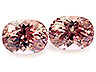 Malaia Garnet Pair Oval Eye clean