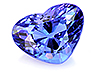 Tanzanite Single Heart Slightly included