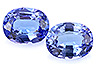 Tanzanite Pair Oval Eye clean to Slightly included