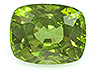 Peridot  Cushion Moderately included