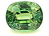 Demantoid Single Oval Slightly to Moderately included