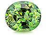 Demantoid Single Oval Slightly included